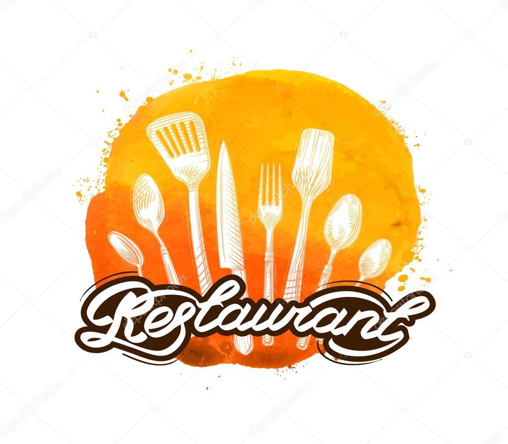 plantilla de diseño de restaurante vector logo. cocina, icono de ...