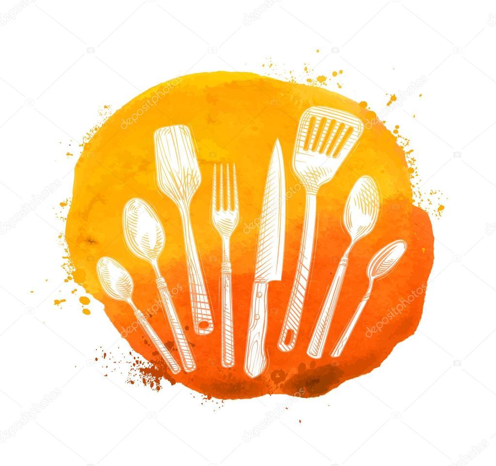 Cafe, plantilla de diseño de logotipo restaurante vector. Menú o ...