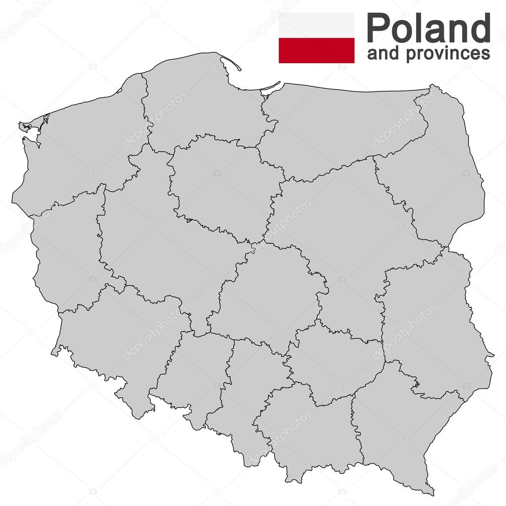 Picture of: Country Poland And Voivodeships Stock Vector C Opicobello 109351620