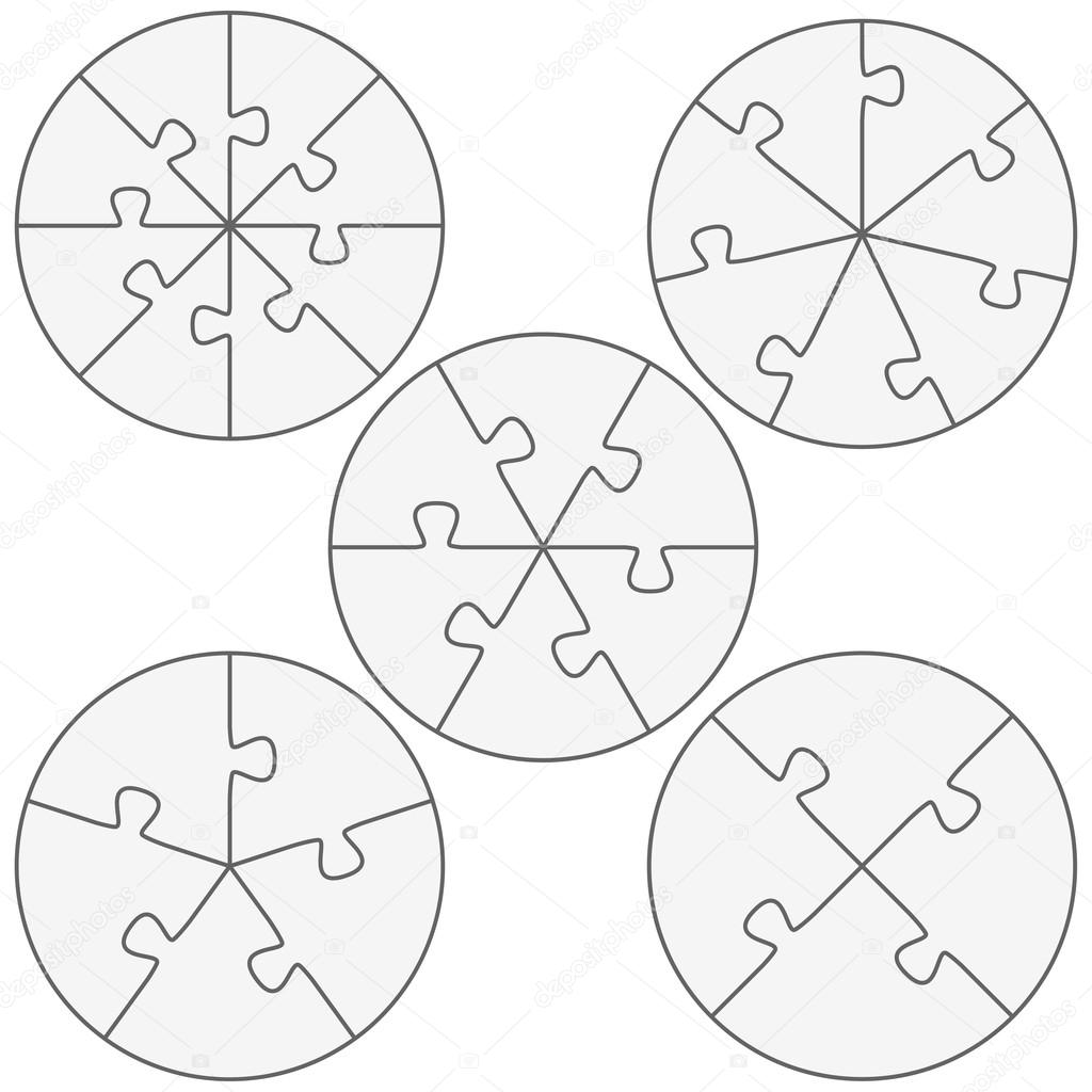 round puzzle templates stock vector opicobello 109352172