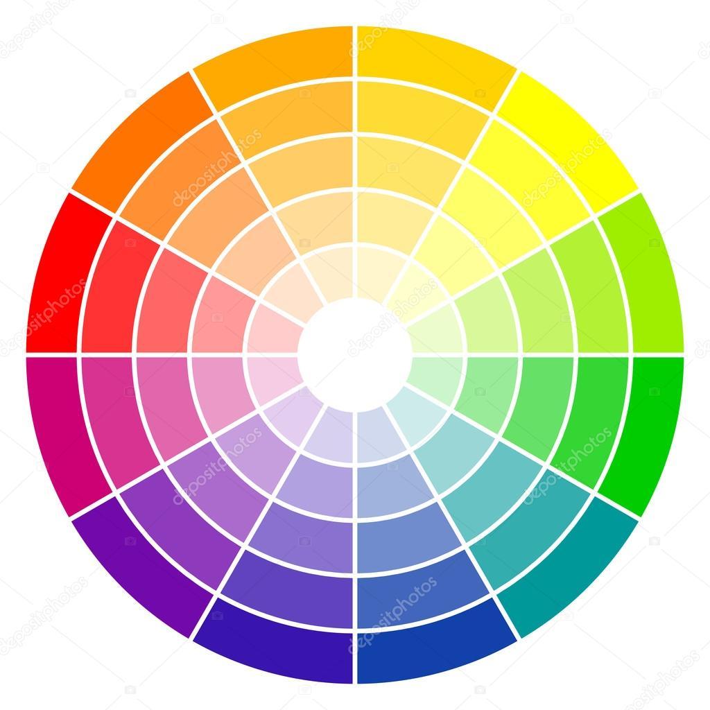 color wheel 12 colors stock vector opicobello 114208226. Black Bedroom Furniture Sets. Home Design Ideas