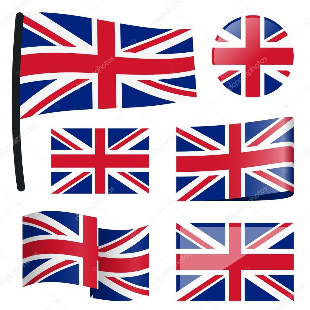 collectie vlaggen groot brittanni 235 stockvector