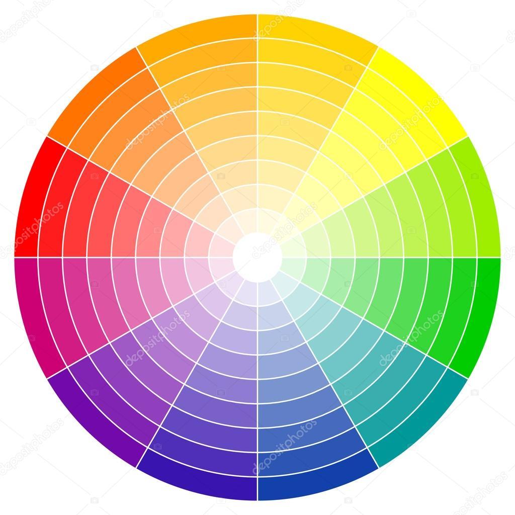 color wheel 12 colors stock vector opicobello 124650702. Black Bedroom Furniture Sets. Home Design Ideas