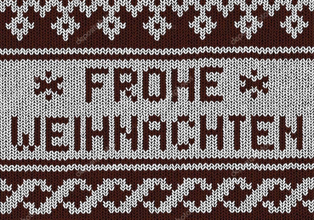 Frohe Weihnachten Norwegisch.Weihnachten Hintergrund Norwegisch Stricken Muster Stockvektor