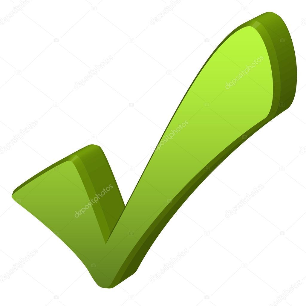 Green check mark in 3d stock vector opicobello 53456891 green check mark in 3d stock vector biocorpaavc Image collections