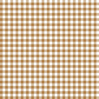 Checkered tablecloth pattern BROWN - endlessly