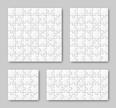 Puzzle Set - White - 4 puzzles