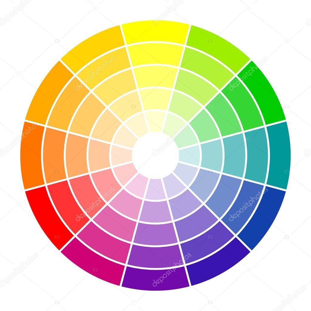 Color circle 12 colors