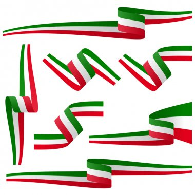 collection of italian country flag banners