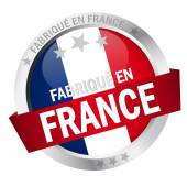 Photo Button with Banner FABRIQUE EN FRANCE