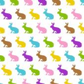 Fotografie Happy Easter silhouettes - colorful bunnies - endless