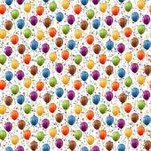 Fotografie Ballons und Konfetti Hintergrund nahtlos