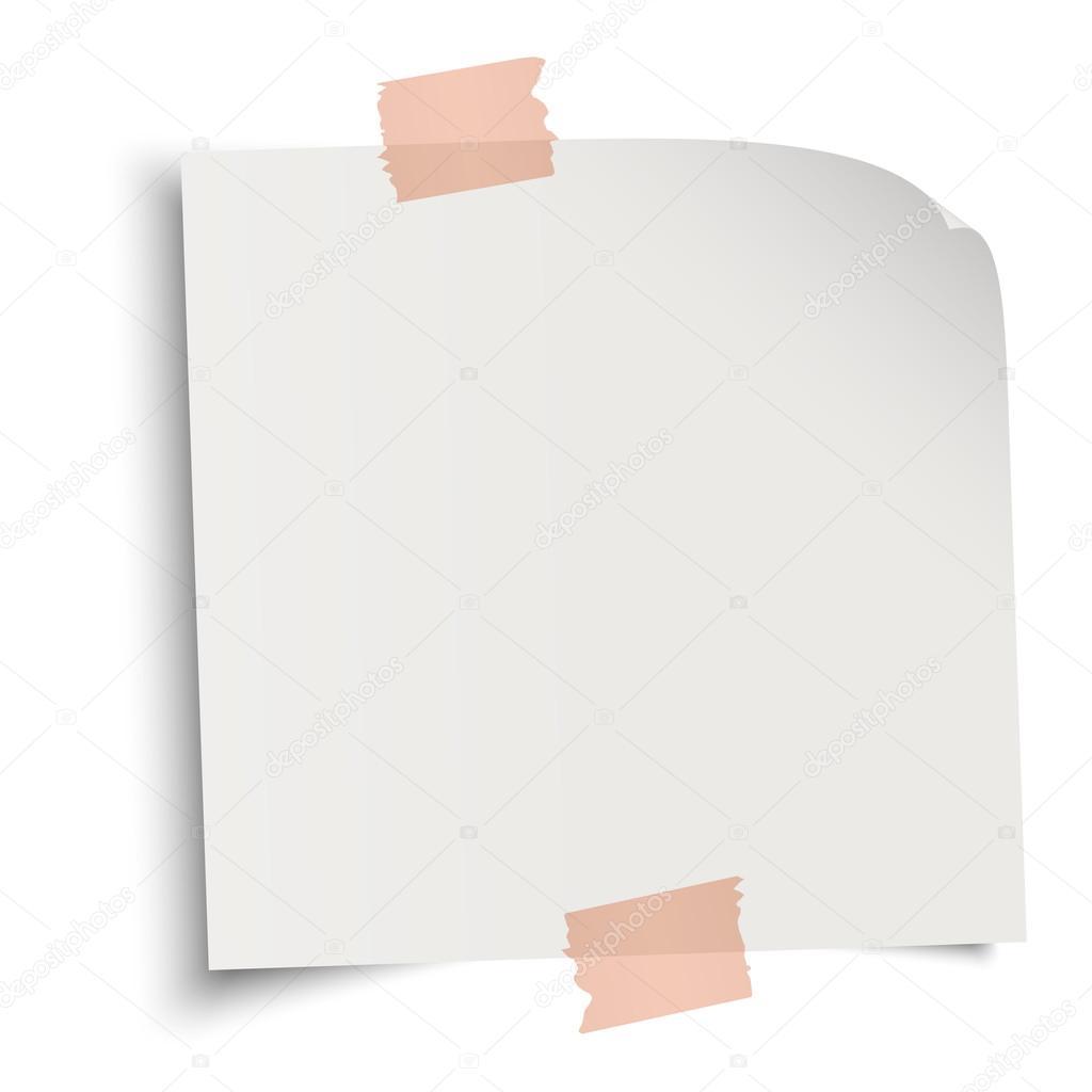 Briefpapier mit selbstklebenden Streifen — Stockvektor © opicobello ...