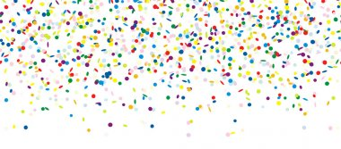Colored falling confetti seamless background for carnival party clip art vector
