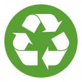 Fotografie bílá na zelený symbol recyklace