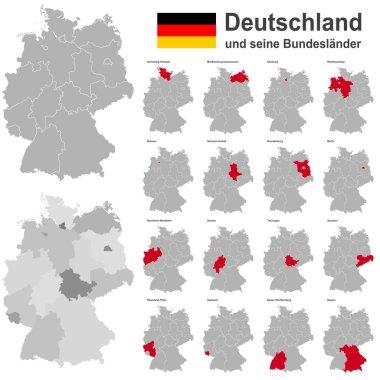 """Картина, постер, плакат, фотообои """"германия и федеральные земли """", артикул 76539071"""