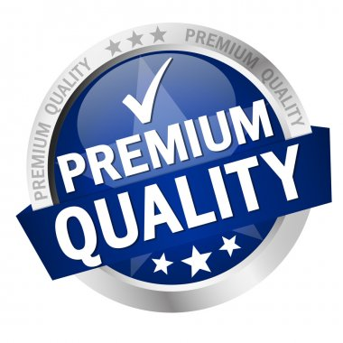 button with text Premium Quality