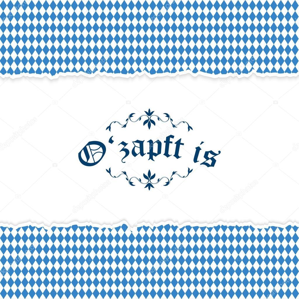 Oktoberfest-Hintergrund Mit Blau-weiß Karierten Muster