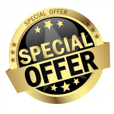 Button with Banner Special Offer