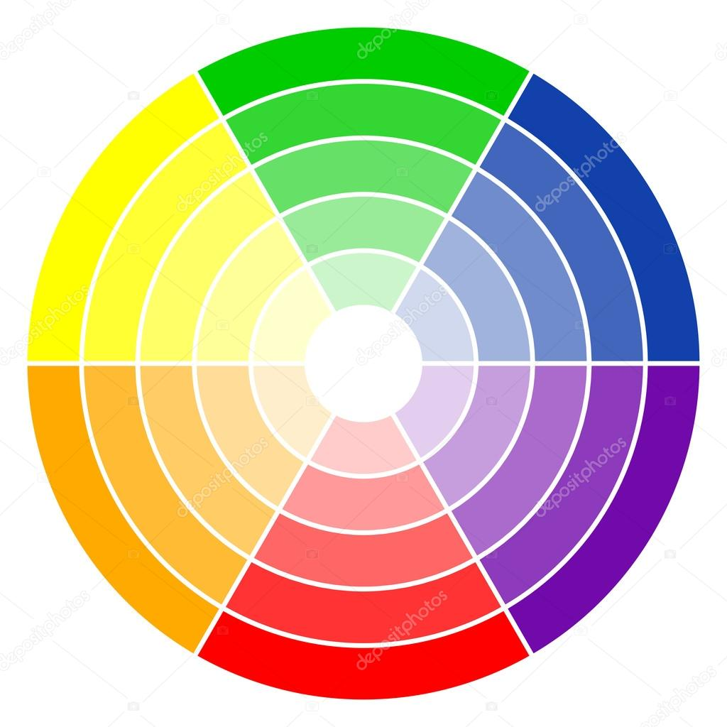 Color Wheel 6 Colors Stockvector Opicobello 84492536