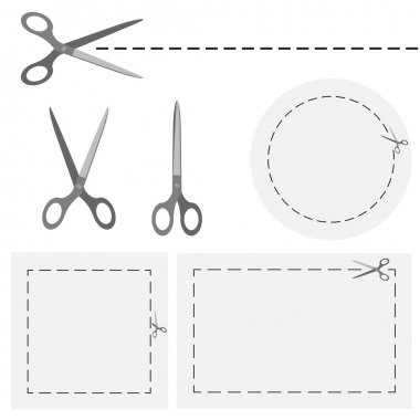 scissors with dashed line