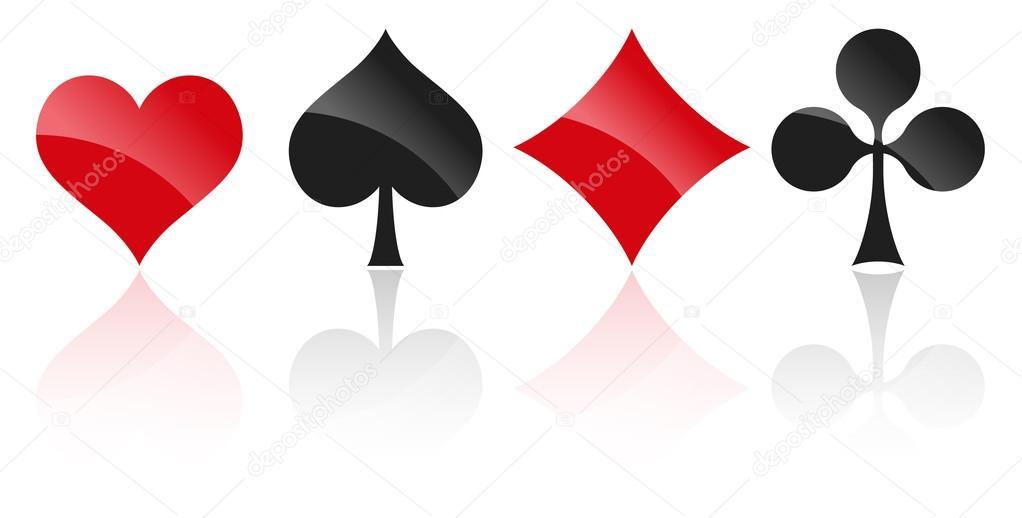 Simboli di carte da gioco u vettoriali stock opicobello