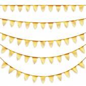 Fotografie Partei-Girlanden golden gefärbt