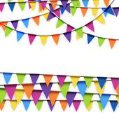 Parteigirlanden farbig