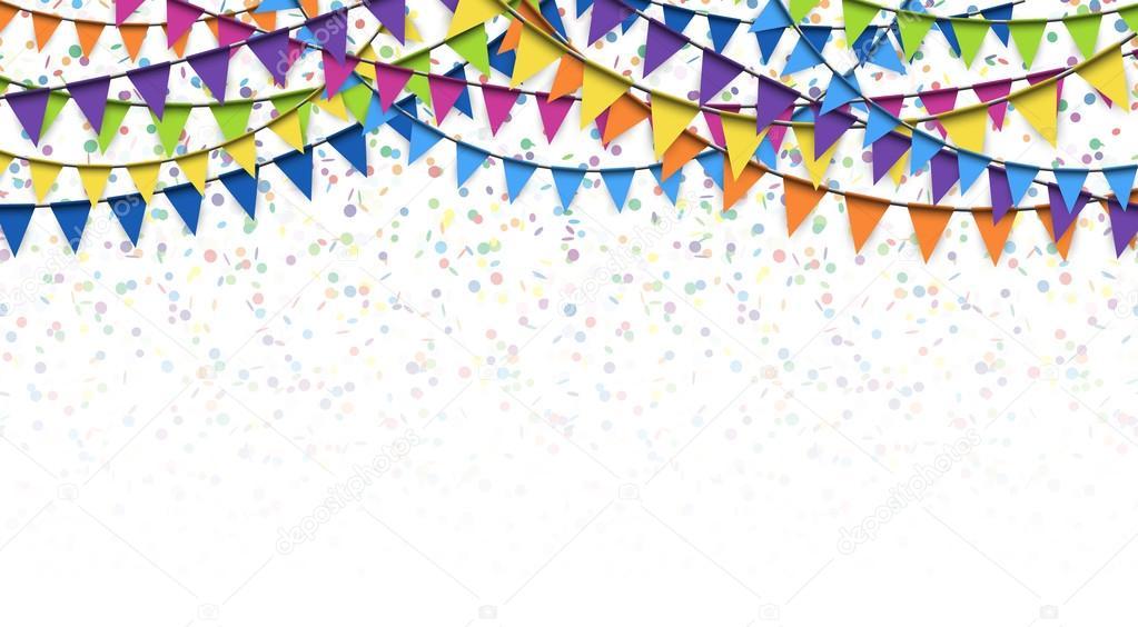 slingers en confetti achtergrond  u2014 stockvector  u00a9 opicobello  98194018