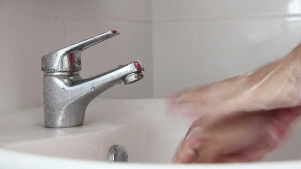 Washing Hand With Foam Soap Footage
