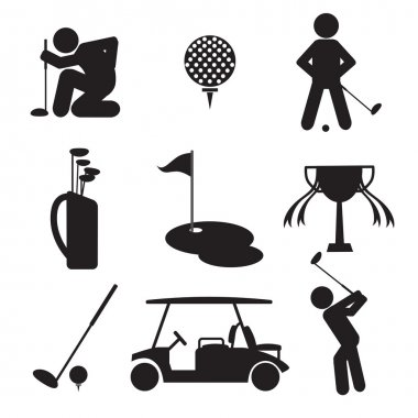 Golf Icon Set Vector Illustration