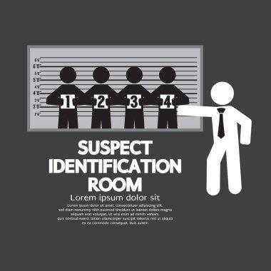 Suspect Identification Room Vector Illustration