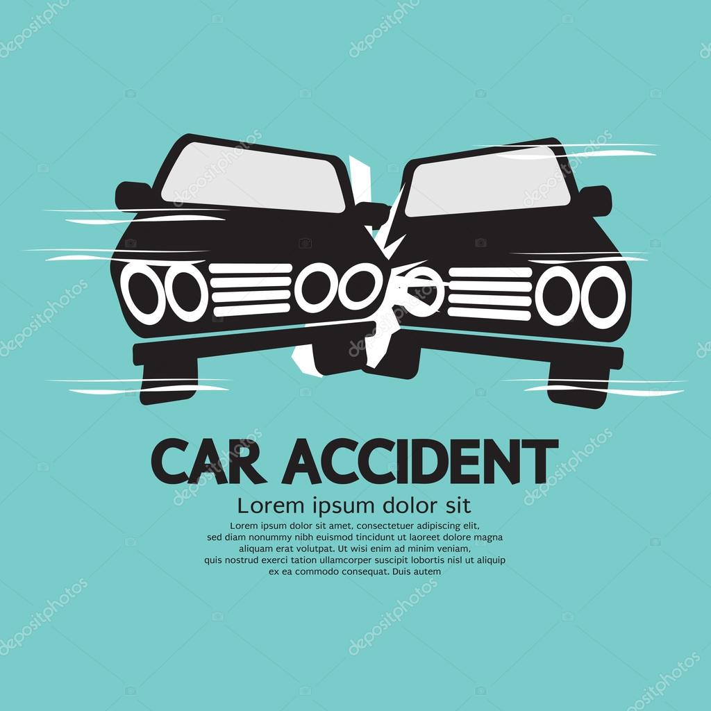 Two Cars In An Accident Vector Illustration