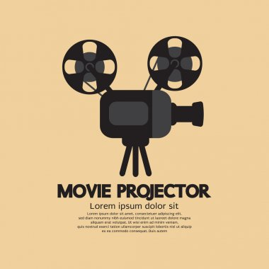 Movie Projector Vector Illustration