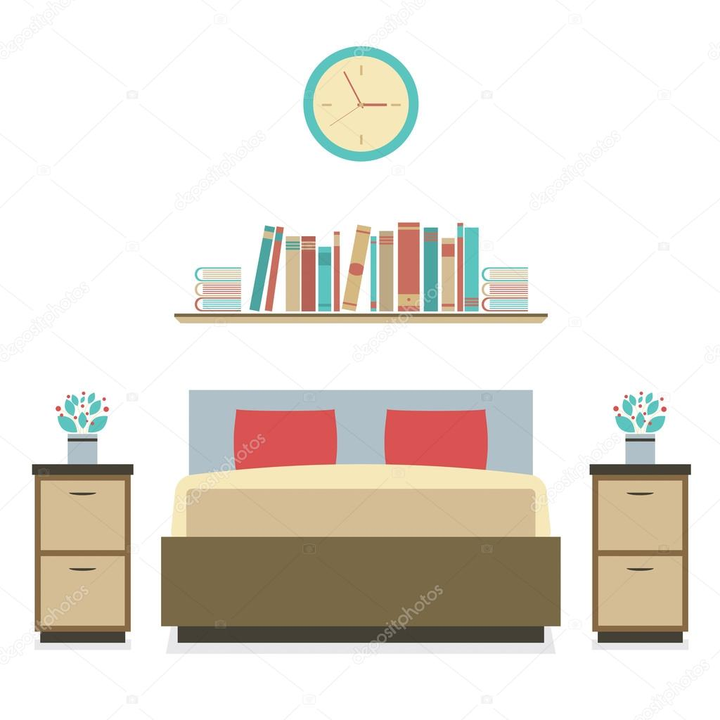 design plat moderne chambre vector illustration image