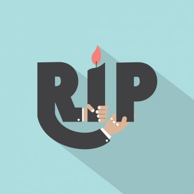 Rest In Peace Typography Design Vector Illustration