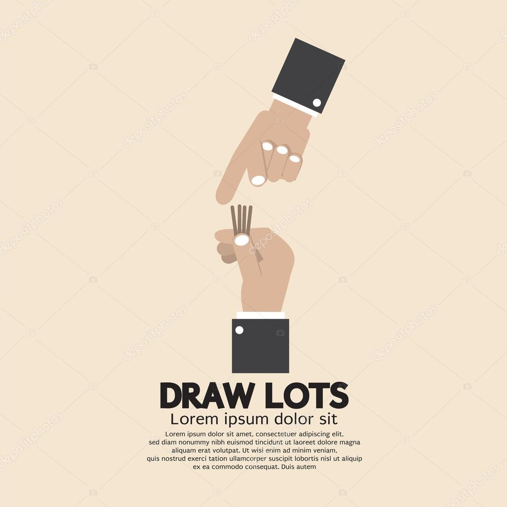 Draw Lots Risk Taking Concept Vector Illustration Stock Vector