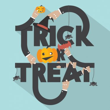 Trick or Treat Typography Design Vector Illustration