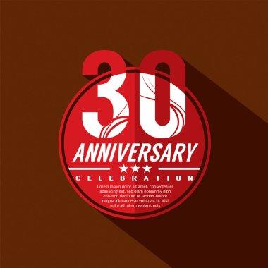 30 Years Anniversary Celebration Design
