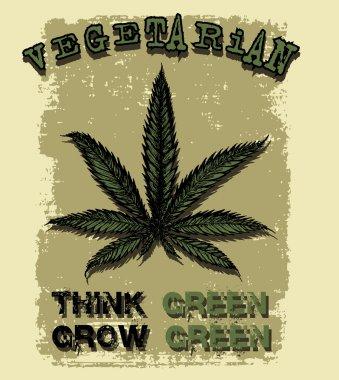 Vegetarian think green grow green