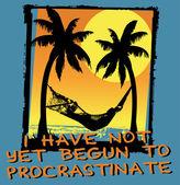 Návrh plakátu humorné otálení