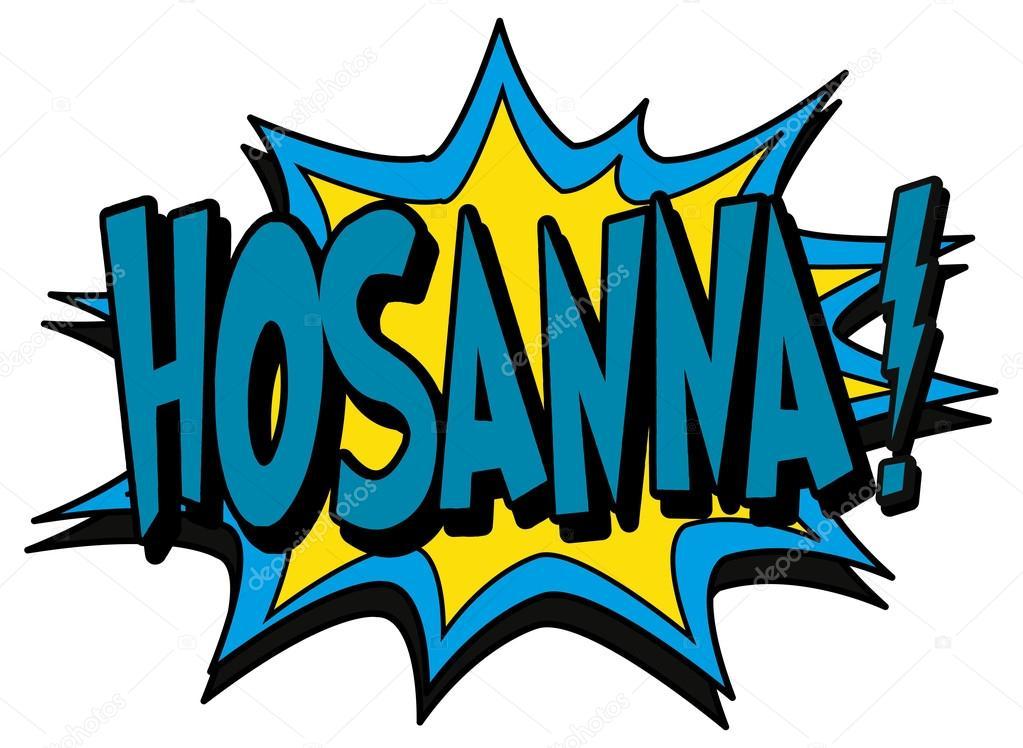 explosion bubble hosanna stock vector scotferdon 59362123 rh depositphotos com Hosanna Palm Clip Art Hosanna Clip Art Black and White