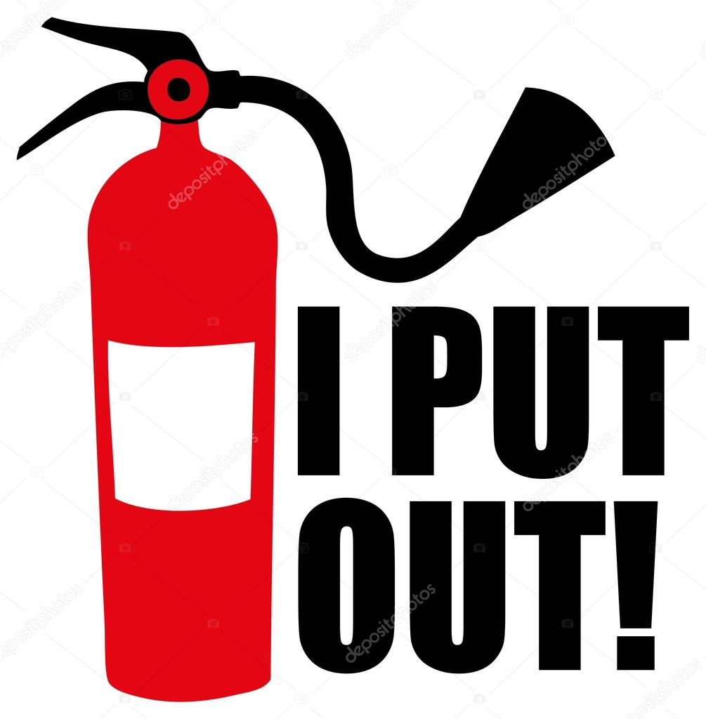 Extinguisher with text i put out