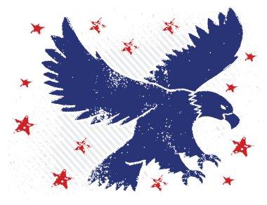 American flag and eagle grunge