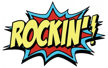 Rock in! word in comic style