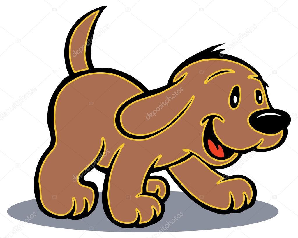Dibujos Perritos Perrito De Juguete De Dibujos Animados Aislado
