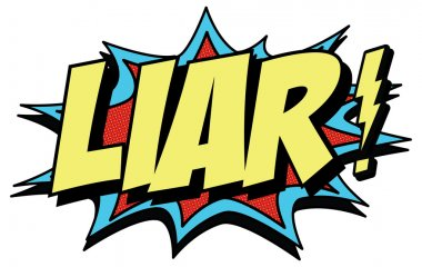 Colorful word 'Liar'