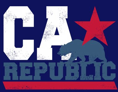 The CA republic and big bear stock vector
