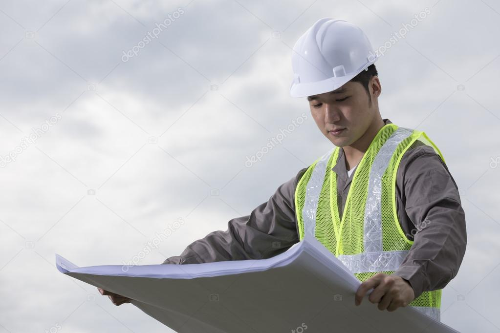 Chinese industrial engineer at work