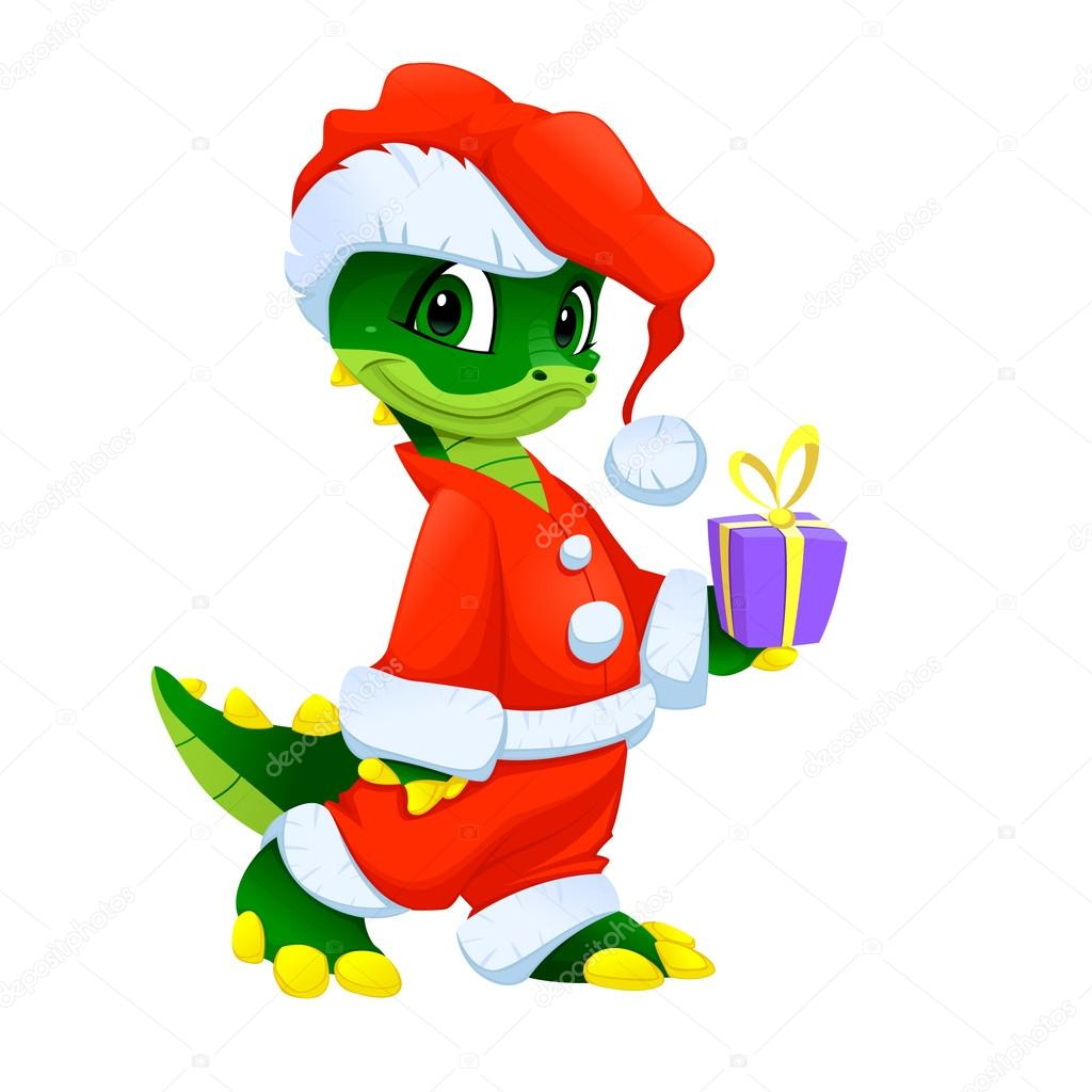Funny Christmas cartoon character